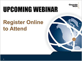 Register to attend our upcoming webinar